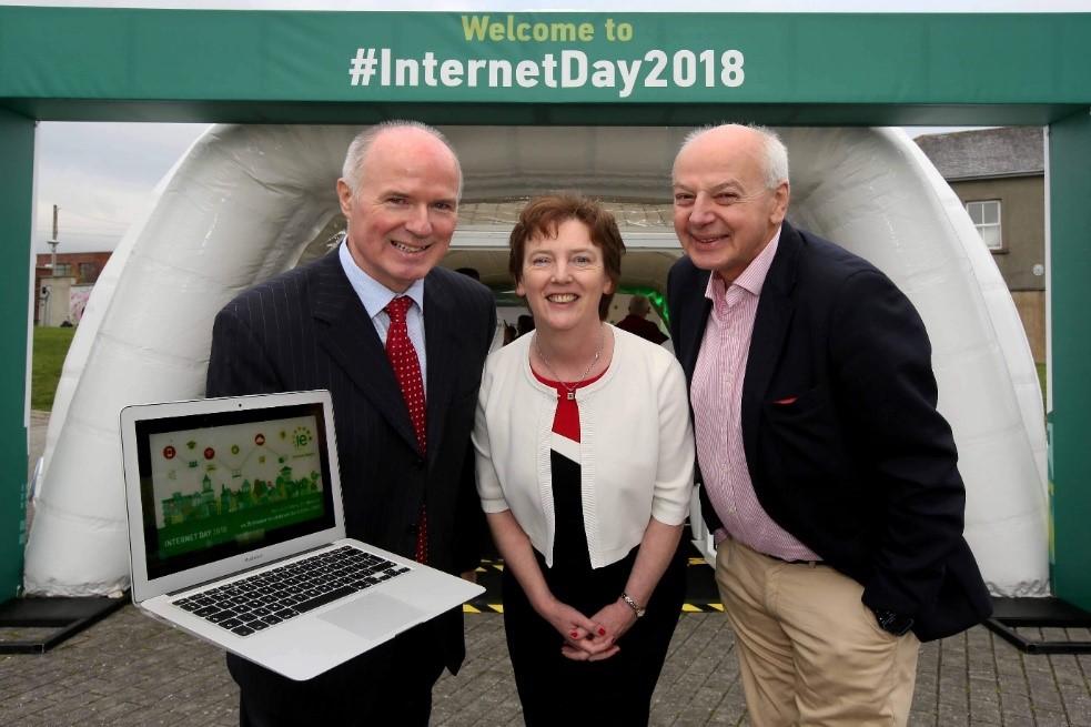 David Curtin, Oonagh McCutcheon and Bobby Kerr at Digital Town 2018 in Gorey