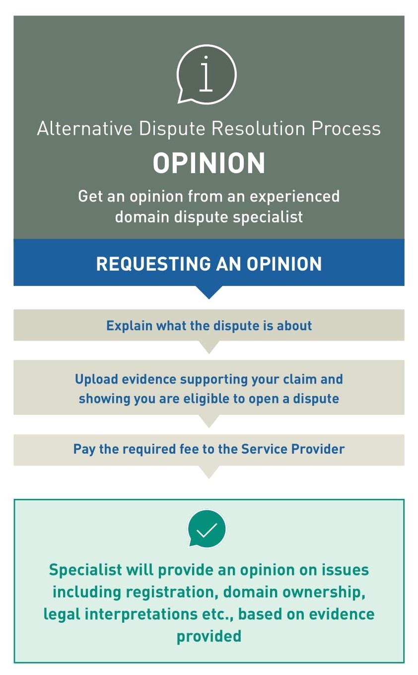 Alternative Dispute Resolution Process Graphic: Opinion