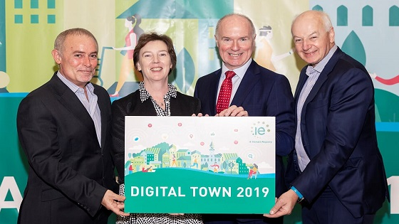 Phil Prentice, Oonagh McCutcheon, David Curtin and Bobby Kerr at Digital Town 2019 Closing Ceremony