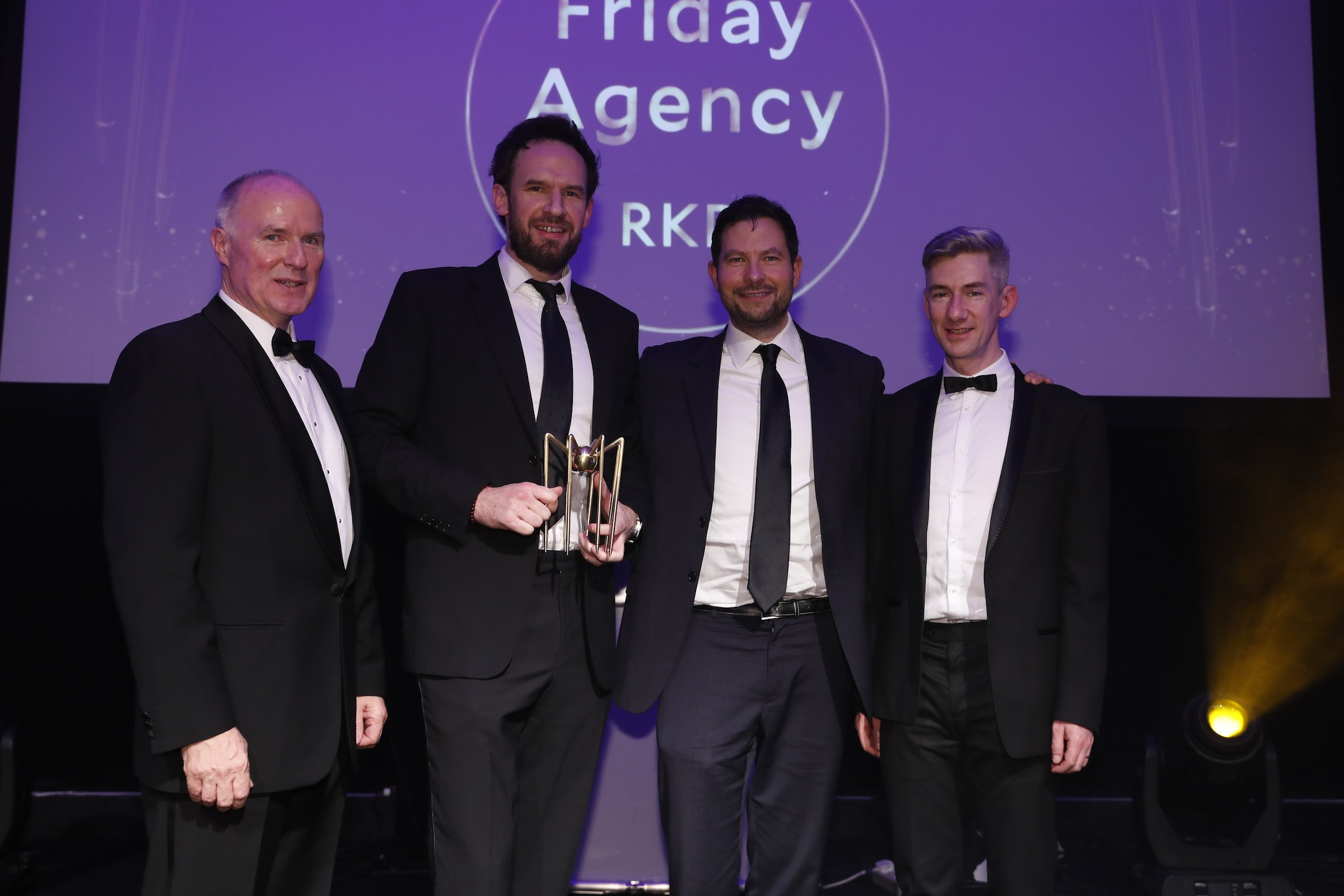 Spiders Awards 2019: David Curtin, CEO, IE Domain Registry presenting Friday Agency with their award for Best Website